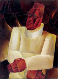 F. VAN DEN BERGHE, Portret van Permeke-Portrait de Permeke, 1922-1924
