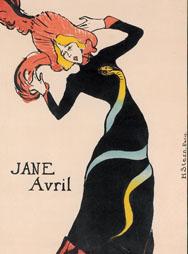 H. de TOULOUSE-LAUTREC, Jane Avril, 1899