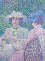 T. VAN RYSSELBERGHE, Thé au jardin-Thee in de tuin, ca 1904